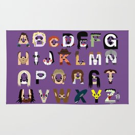 Horror Icon Alphabet Rug