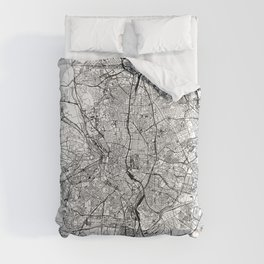 Madrid White Map Comforters