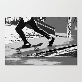The Push-off  - Skateboarder Canvas Print