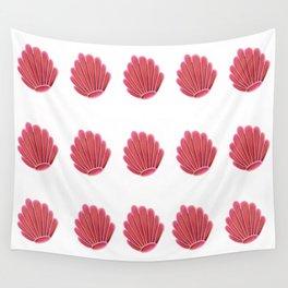Pink SeaShells Wall Tapestry