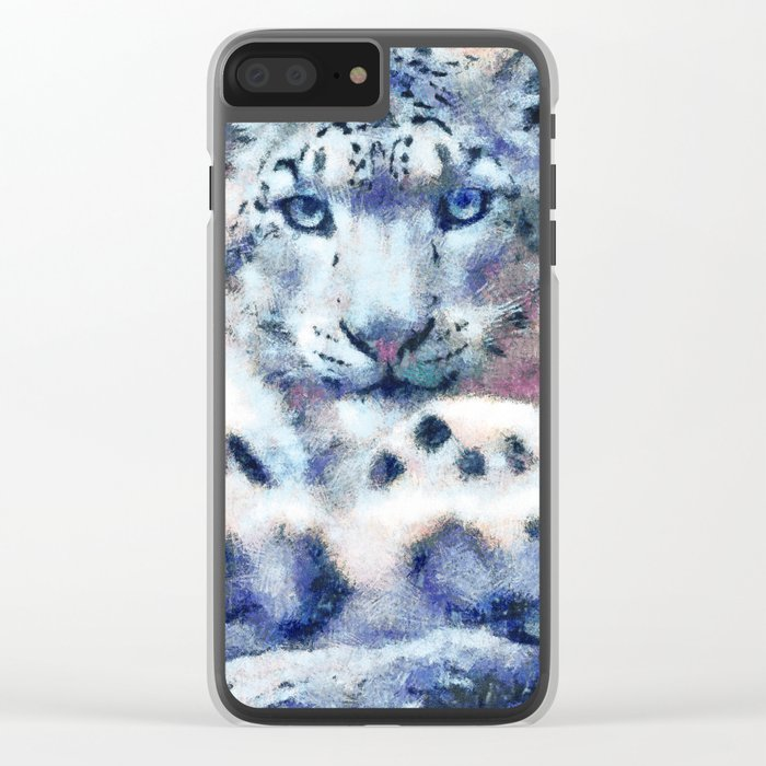Snow Leopard Clear iPhone Case