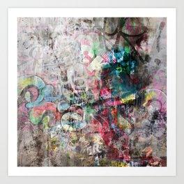 Grunge wall in Brixton Art Print