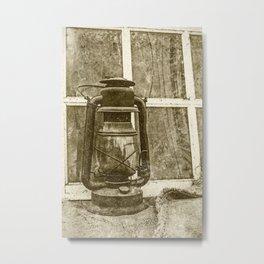 Antique Oil Lantern 2 Metal Print