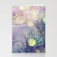 lunar Stationery Cards featuring Lunar Orbit by Olivia Joy StClaire