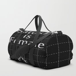 Satoshi is Female Duffle Bag