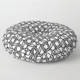 SHUTTER classic black and white minimalist camera lens pattern Floor Pillow