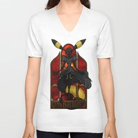 """umbreon V-neck T-shirts featuring Rule 63: Umbreon by Barbora """"Mad Alice"""" Urbankova"""