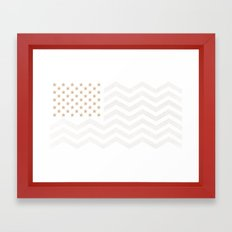 GOLD Stars & Stripes Framed Art Print