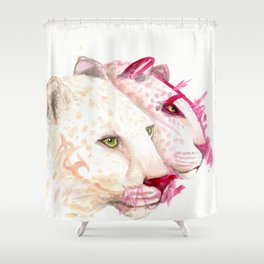 Leopards - A Collaboration with my Toddler Shower Curtain