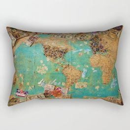Risk Travel Map (Color) Rectangular Pillow