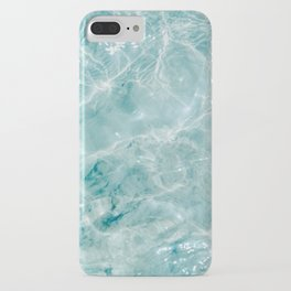 Clear blue water | Colorful ocean photography print | Turquoise sea iPhone Case