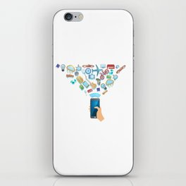 One Click Away From Everything iPhone Skin