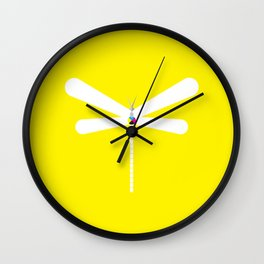 LibelluleMonde Yellow Branding Wall Clock