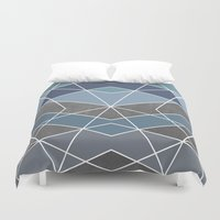 geometry Duvet Covers featuring Geometry by Marta Olga Klara
