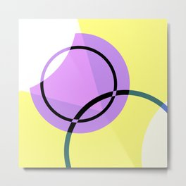 Circular Abstraction Metal Print