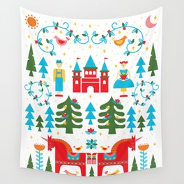 Scadinavian Fairytale Bright Wall Tapestry