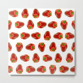 Red peppers pattern Metal Print