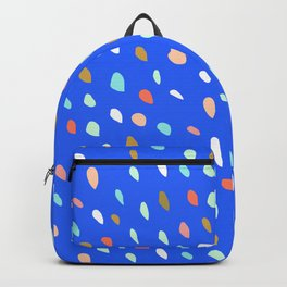 Blue Party Paint Dots Backpack