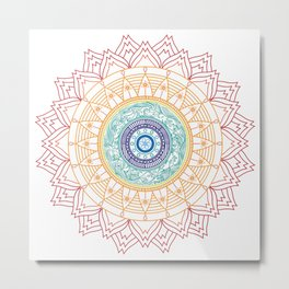 Mandala Waves Metal Print