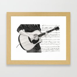 A Few Chords Framed Art Print