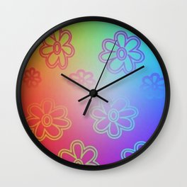 Ombre Hippie Wall Clock