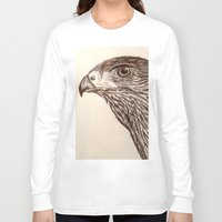 hawk Long Sleeve T-shirts featuring Hawk by Leslie Creveling