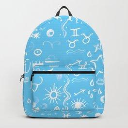 Celestial Symbols Blue Sky Backpack