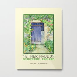 Door, Derbyshire, England, Historical Tourist Attraction, Bakewell Metal Print