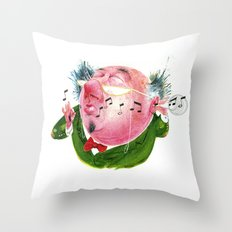 The Music Critic Throw Pillow