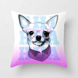 Chihuahua With Glasses Throw Pillow