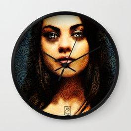 Portrait of Mila Kunis #1 Wall Clock