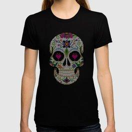 Day of the Dead, Cinco de Mayo, Calavera, Dia de los Muertos - Sugar Skull - Candy Skull Make Up Fac T-shirt
