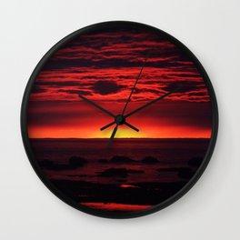 Red Sky at Night Wall Clock