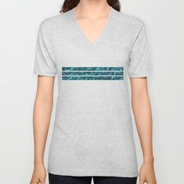 Abalone Shell | Paua Shell | Sea Shells | Patterns in Nature | Cyan Blue Tint | Unisex V-Neck