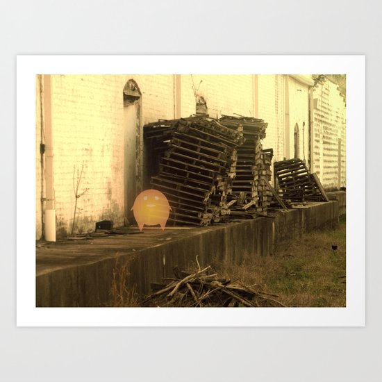 Lonely with Pallets Art Print