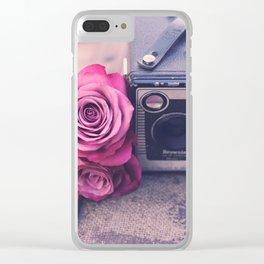 VINTAGE DREAMS Clear iPhone Case
