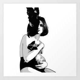As mysterious as a cat Art Print