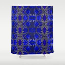 Boujee Boho Harmonic Indigo Color Therapy Shower Curtain