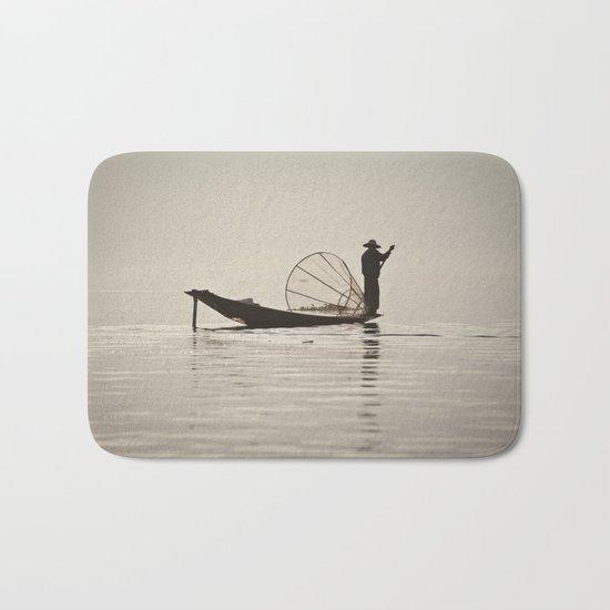 Fisherman at Inle Lake Bath Mat