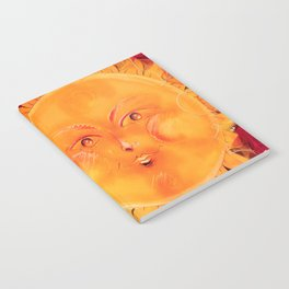 Digital painting of a chubby sun with a funny face Notebook