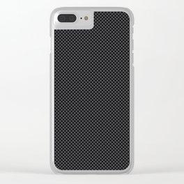 Simulated Black Carbon Fiber Clear iPhone Case