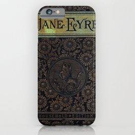 Jane Eyre by Charlotte Bronte, Vintage Book Cover iPhone Case