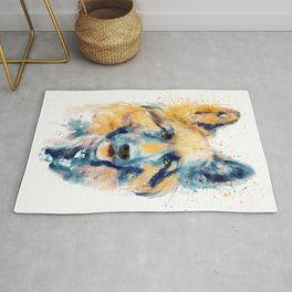 German Shepherd Dog Portrait Rug