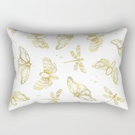 Golden Wings Rectangular Pillow