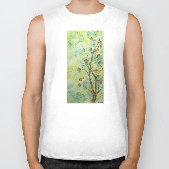 Branch with flowers Biker Tank