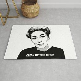Mommie Dearest - Clean up this Mess! - Pop Art Rug