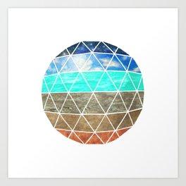 Geodesic II Art Print