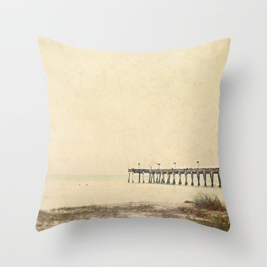 Early Venice Pier Day ... Throw Pillow