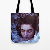 laura palmer Tote Bags featuring Laura Palmer from Twin Peaks by Alice Teal