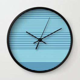 Strong Stripes (lapis-island blue) Wall Clock